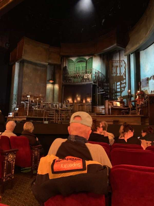 Walter Kerr Theatre, section: Orchestra R, row: G, seat: 4