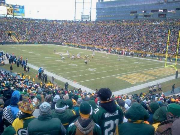 Lambeau Field, section: 107, row: 35, seat: 28