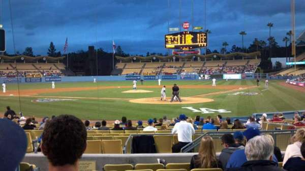 Dodger Stadium, section: Field box mvp 3, row: H, seat: 8