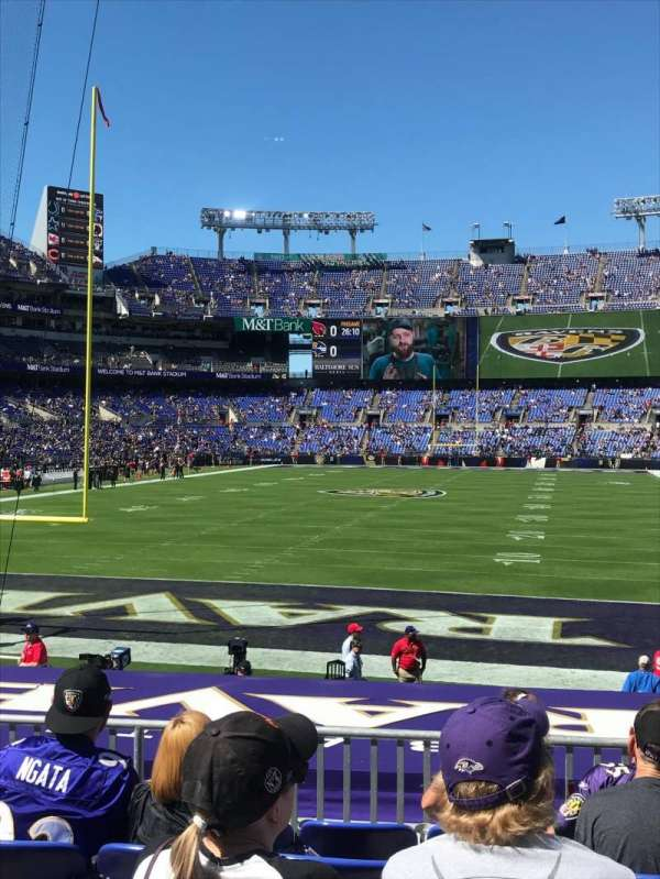 M&T Bank Stadium, section: 112, row: 16, seat: 3