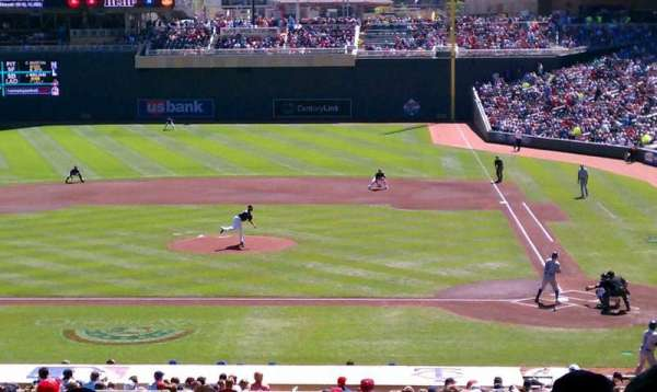 Target Field, section: 118, row: 24, seat: 19