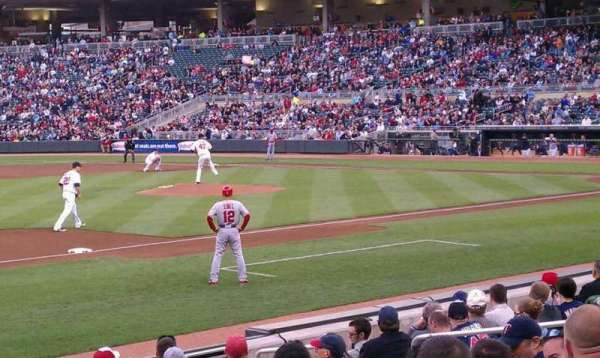 Target Field, section: 15, row: 11, seat: 15