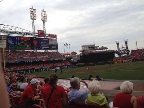 Great American Ball Park, section: 119A, row: H, seat: 1