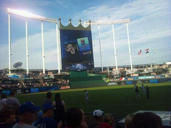 Kauffman Stadium, section: 116, row: F, seat: 10