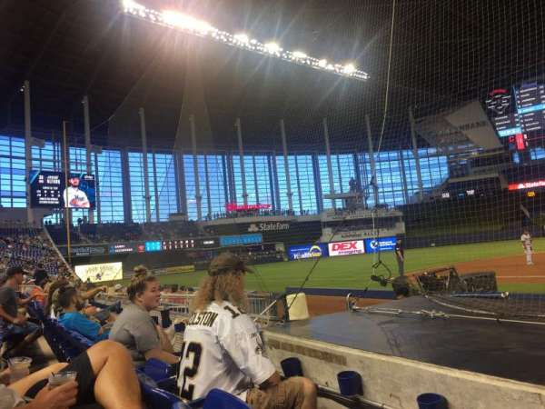Marlins Park, section: 21, row: B, seat: 1