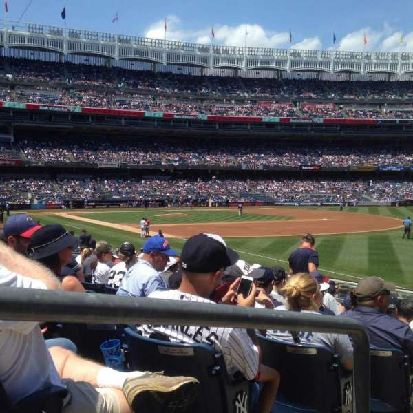 Yankee Stadium, section: 110, row: 19, seat: 14