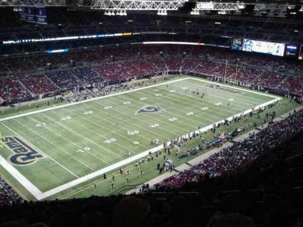 The Dome at America's Center, section: 420, row: VV, seat: 1