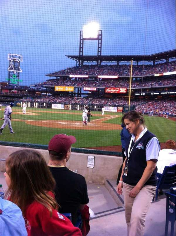 Citizens Bank Park, section: B, row: 5, seat: 2