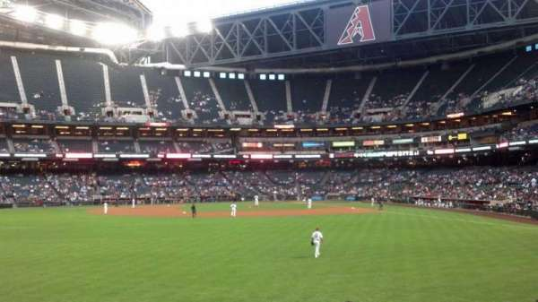 Chase Field, section: 142, row: 22, seat: 2