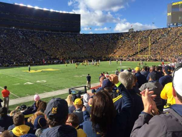 Michigan Stadium, section: 3, row: 6, seat: 25