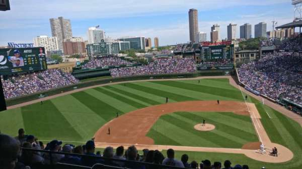 Wrigley Field, section: 413L, row: 2, seat: 5
