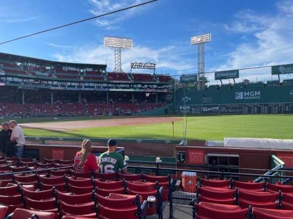 Fenway Park, section: Field box 11, row: F, seat: 4