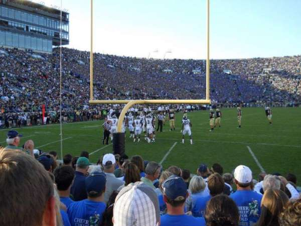 Notre Dame Stadium, section: 18, row: 7, seat: 14