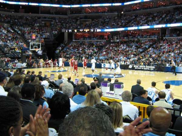 FedEx Forum, section: 106, row: H, seat: 7