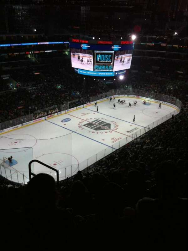 Staples Center, section: 322, row: 7, seat: 11
