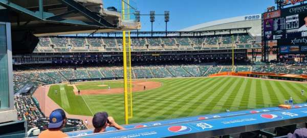 Comerica Park, section: Balcony 1, row: CCCAC, seat: 14