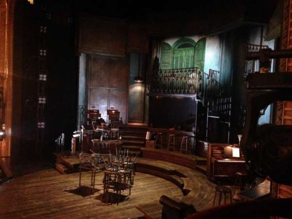 Walter Kerr Theatre, section: Box A, row: 1, seat: 1