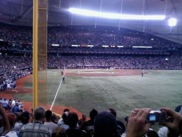 Tropicana Field, section: 140, row: U, seat: 10