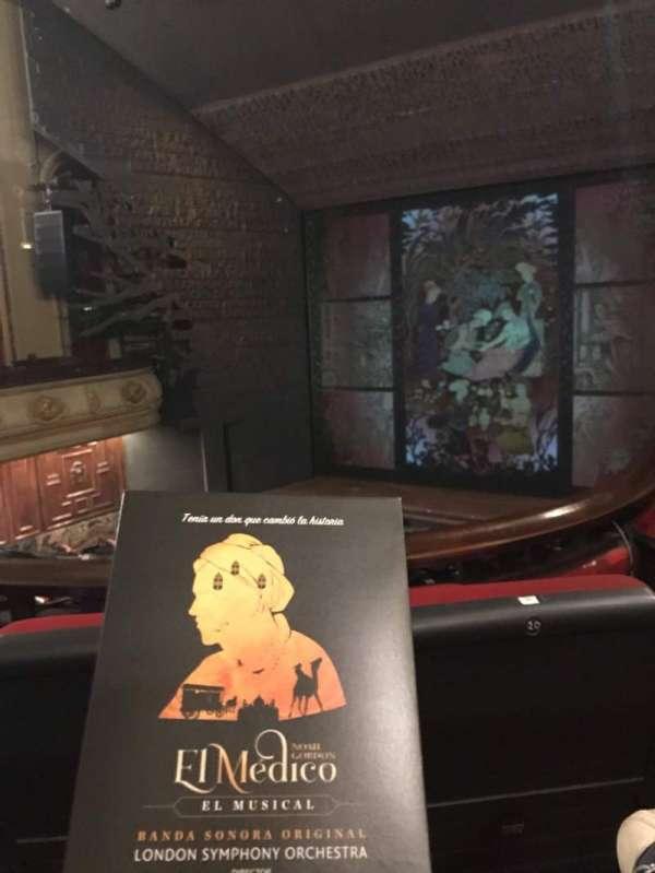Teatro Nuevo Apolo, section: Entresuelo, row: 1, seat: 22