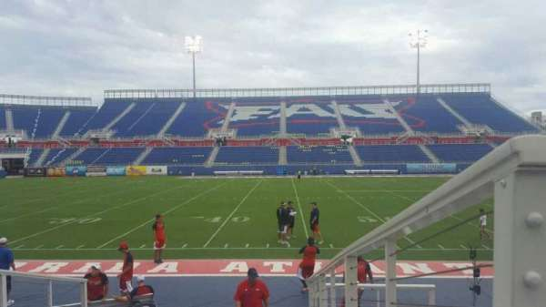 FAU Stadium, section: 106, row: F, seat: 1