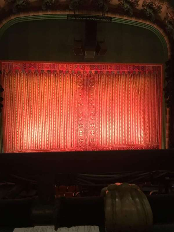 New Amsterdam Theatre, section: Mezzanine C, row: AA, seat: 116