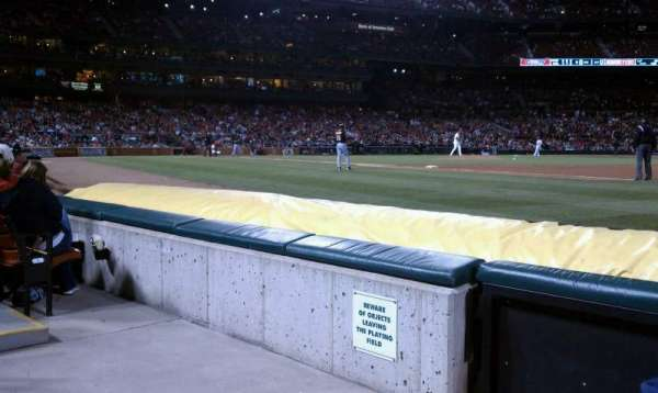 Busch Stadium, section: Dugout Box 139, row: C, seat: 2