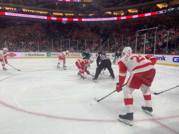 Xcel Energy Center, section: 106, row: 1, seat: 7,8