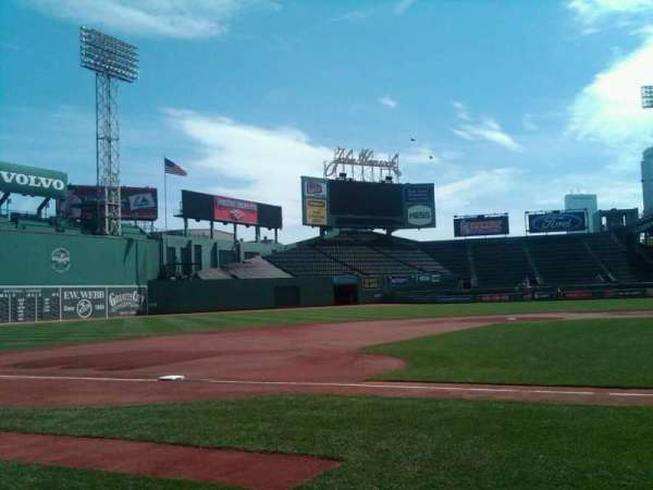 Fenway Park, section: Visitor Dugout
