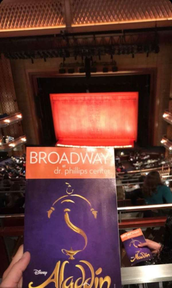 Walt Disney Theatre - Dr. Phillips Center, section: Upper Balcony, row: G, seat: 136