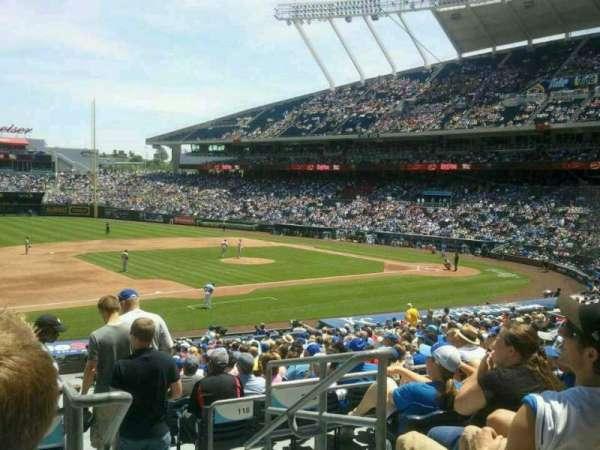 Kauffman Stadium, section: 217, row: EE, seat: 11