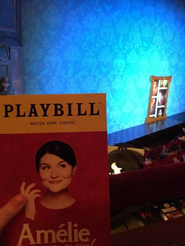 Walter Kerr Theatre, section: Mezz Left, row: A, seat: 23