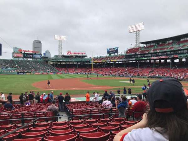 Fenway Park, section: Loge Box 153, row: GG, seat: 5