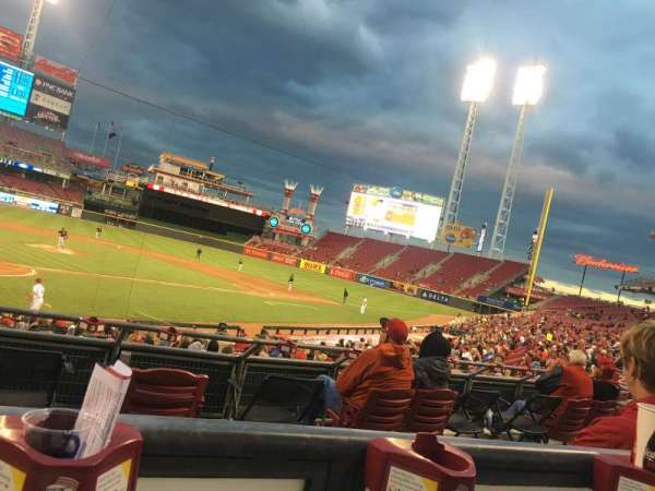 Great American Ball Park, section: 124, row: A, seat: 3
