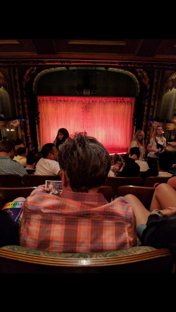 New Amsterdam Theatre, section: Mezzanine C, row: MM, seat: 109