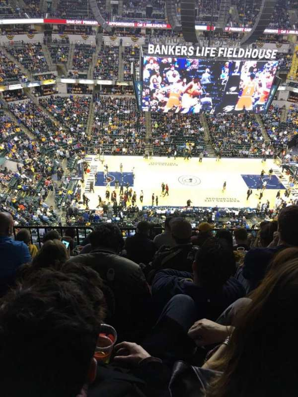Bankers Life Fieldhouse, section: 209, row: 8, seat: 17