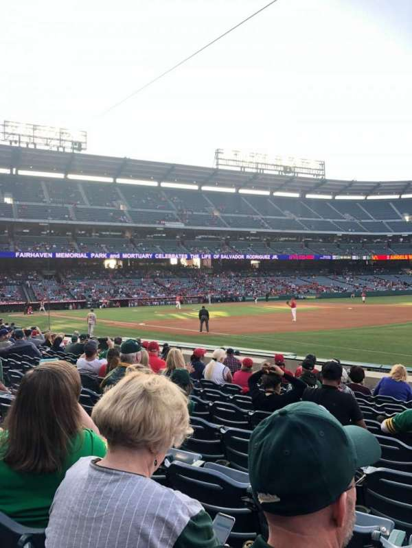 Angel Stadium, section: F128, row: K, seat: 12