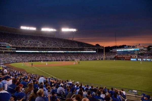 Kauffman Stadium, section: 145, row: X, seat: 5