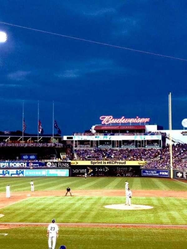 Kauffman Stadium, section: 122, row: T, seat: 5