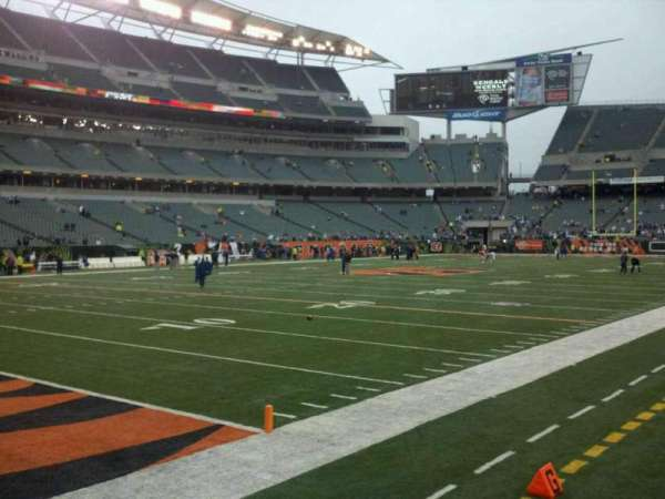 Paul Brown Stadium, section: 148, row: 1, seat: 6