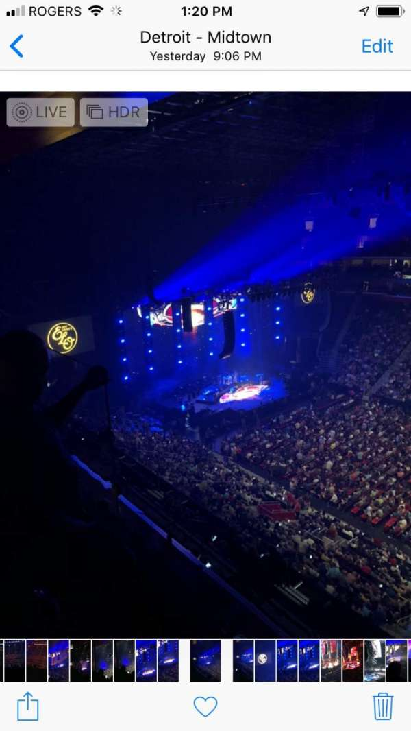 Little Caesars Arena, section: 225, row: 2, seat: 12-15