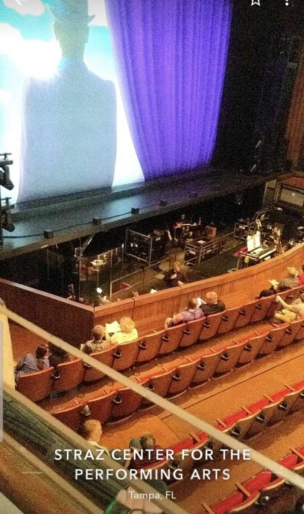 Carol Morsani Hall at the Straz, section: Mezzanine, row: BXB, seat: 4