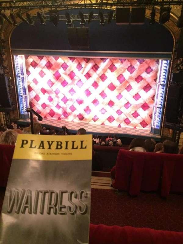 Brooks Atkinson Theatre, section: Center Mezzanine, row: E, seat: 106