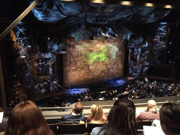 Gershwin Theatre, section: Front Mezzanine L, row: D, seat: 19