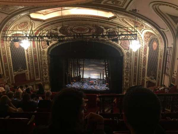 Cadillac Palace Theater, section: Balcony R, row: S, seat: 4