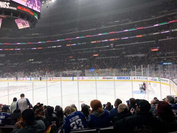 Staples Center, section: 108, row: 12, seat: 16