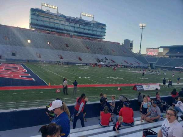Arizona Stadium, section: 6-7, row: 9, seat: 20