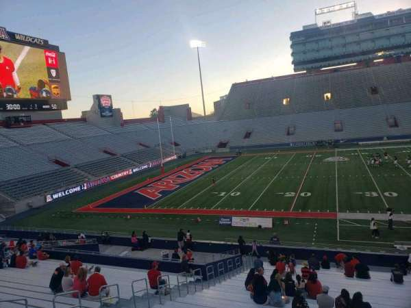Arizona Stadium, section: 6, row: 29, seat: 10