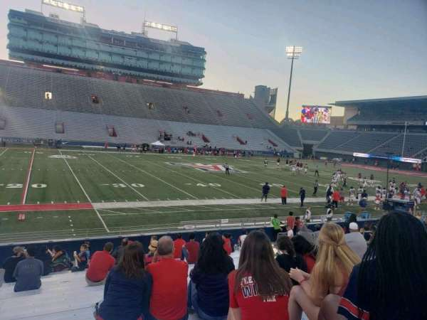 Arizona Stadium, section: 6, row: 18, seat: 20