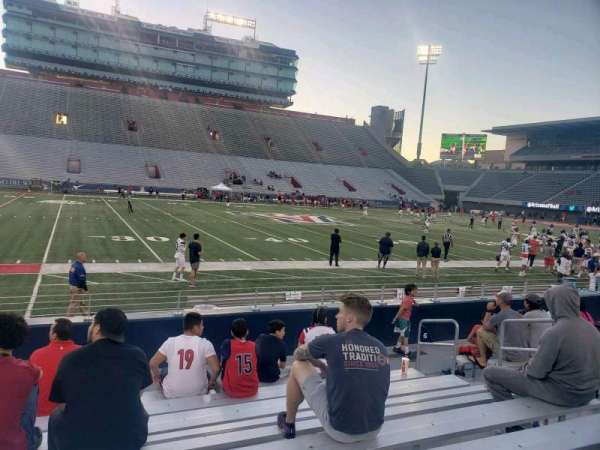 Arizona Stadium, section: 6, row: 9, seat: 8