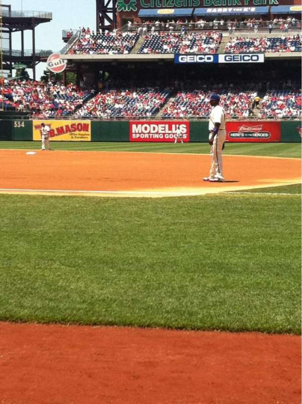 Citizens Bank Park, section: 114, row: 1, seat: 2